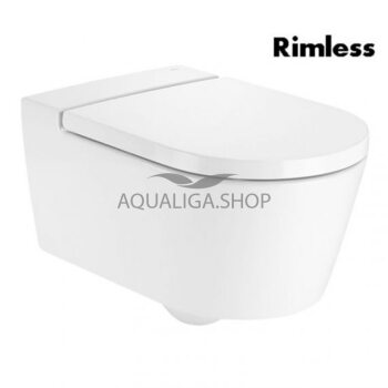Чаша унитаза Roca Inspira Round Rimless 56х37 см A346527000