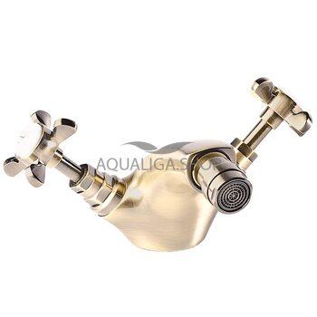 Смеситель для биде бронза Imprese Cuthna antiqua 40280 antiqua