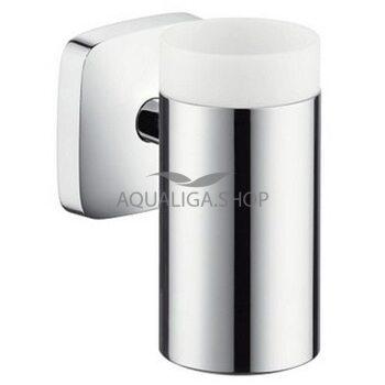 Стакан для зубных щеток керамический с держателем Hansgrohe PuraVida 41504000
