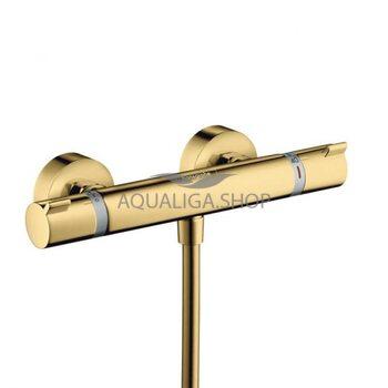 Смеситель для душа с термостатом Hansgrohe Ecostat Comfort золото 13116990