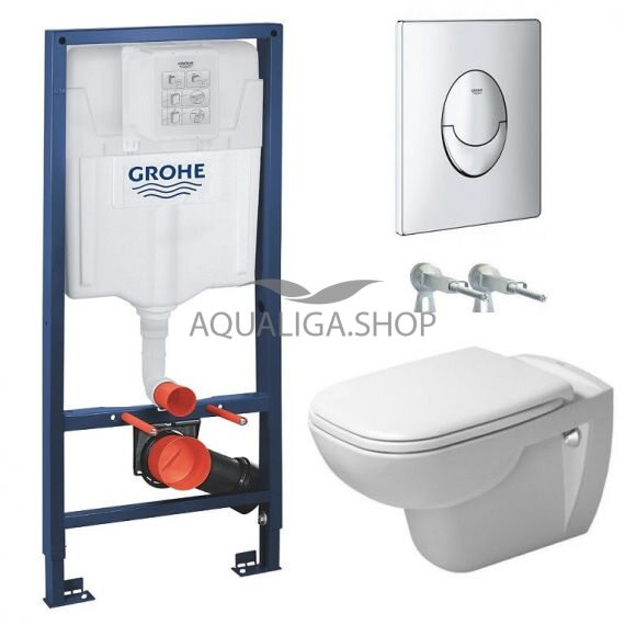 Инсталляция Grohe Rapid SL 38750001 +Унитаз Duravit D-Code Rimless 45700900A1
