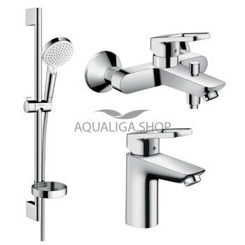 Набор смесителей для ванны Hansgrohe Logis Loop 100 1062019