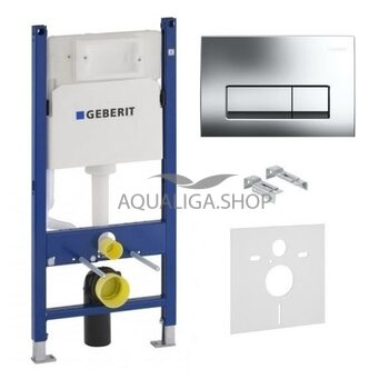 Система инсталляции Geberit Duofix 458.126.00.1 + Delta51 хром глянец 115.105.21.1