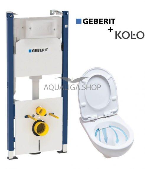 Инсталляция Geberit Duofix 458.126.00.1 + Унитаз Kolo NOVA PRO M33120000