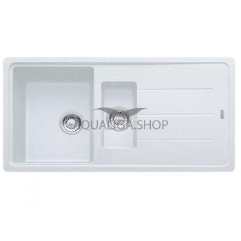Мойка с сифоном гранит BFG 651 белый 970x500 Franke 114.0365.349