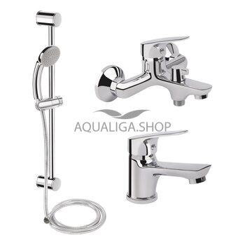 Набор смесителей для ванны Qtap Set CRM 35-111 QTSETCRM35111