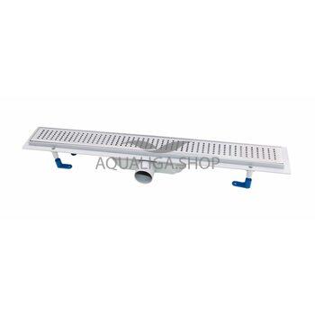 Трап линейный Q-tap Dry FB304-600 с нержавеющей решеткой 600х73