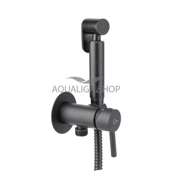 Набор для гигиенического душа со смесителем черный Q-tap Inspai-Varius BLA V00440001