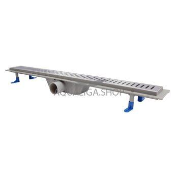 Трап линейный Q-tap Dry FA304-800 с нержавеющей решеткой 800х73