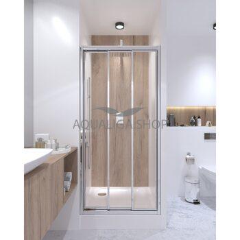 Душевая дверь в нишу 80см Q-tap Unifold CRM208.C4 UNICRM208C4