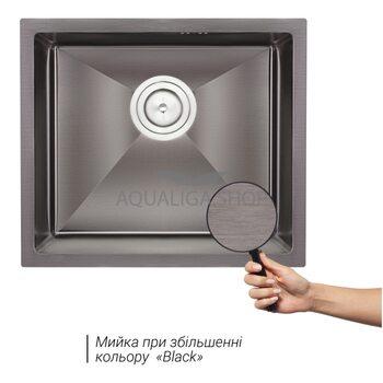 Кухонная мойка Qtap D4843BL 2.7/1.0 мм QTD4843BLPVD2710