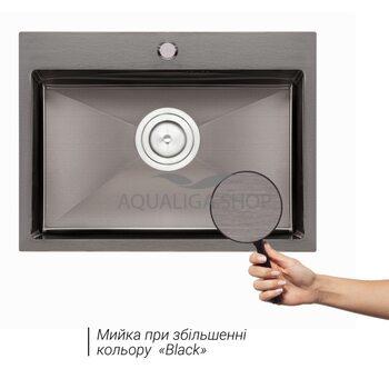 Кухонная мойка Qtap D5843BL 2.7/1.0 мм QTD5843BLPVD10