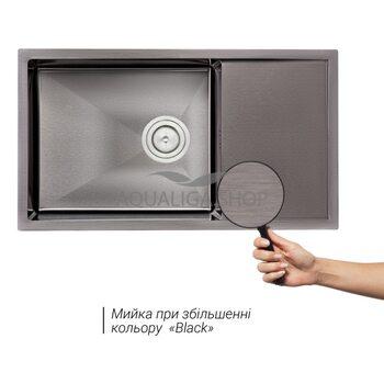 Кухонная мойка Qtap D7844BL 3.0/1.2 мм QTD7844BLPVD12
