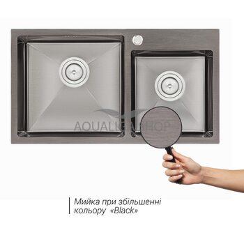 Кухонная мойка Qtap S7843BL 2.7/1.0 мм QTS7843BRPVD10