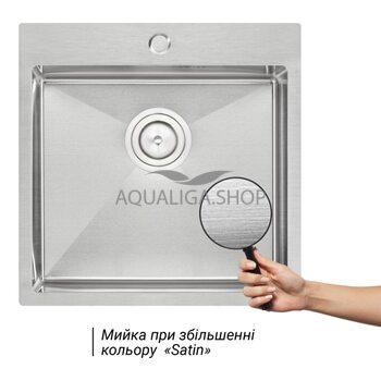 Кухонная мойка Qtap D5050 2.7/1.0 мм QTD505010