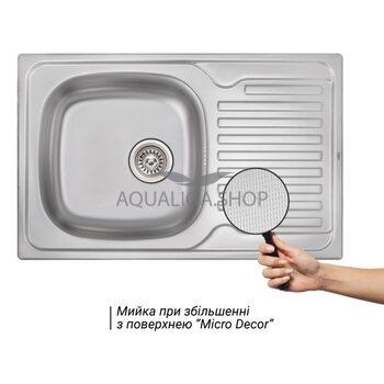 Кухонная мойка Qtap 7850 Micro Decor 0,8 мм QT7850MICDEC08