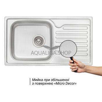 Кухонная мойка Qtap 7843 Micro Decor 0,8 мм QT7843MICDEC08