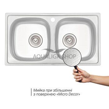 Кухонная мойка Qtap 7843-B Micro Decor 0,8 мм QT7843BMICDEC08