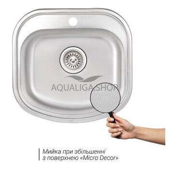Кухонная мойка Qtap 4947 Micro Decor 0,8 мм QT4947MICDEC08
