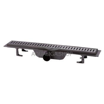 Трап линейный Q-tap Dry FF304-600MBLA с нержавеющей решеткой 600х73