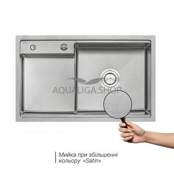 Кухонная мойка Qtap D7848-R Satin 3.0/1.2 мм QTD7848R3012