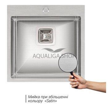 Кухонная мойка Qtap DK5050 Satin 2.7/1.0 мм QTDK50502710