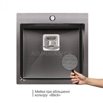Кухонная мойка Qtap DK5050BL Black 2.7/1.0 мм QTDK5050BLPVD2710