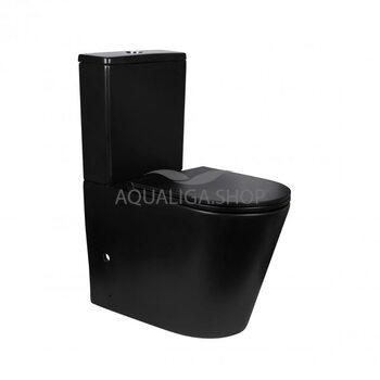 Унитаз-компакт Qtap Scorpio безободковый с сиденьем Soft-close QT14222125ARMB