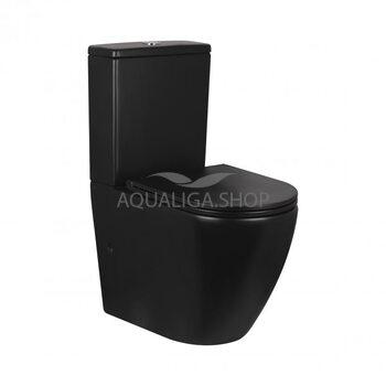 Унитаз-компакт Qtap Robin безободковый с сиденьем Soft-close QT13222141ARMB