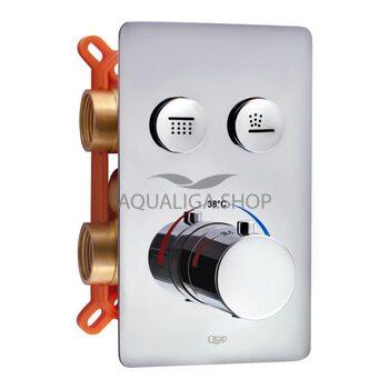 Смеситель термостатический скрытого монтажа для душа Qtap Votice 6442T105NKC на два потребителя