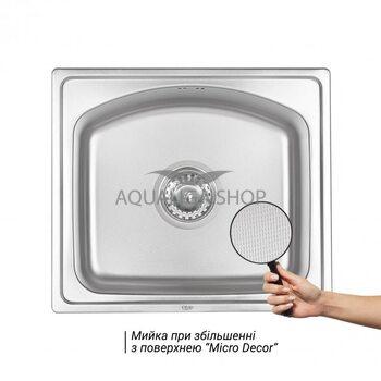 Кухонная мойка Qtap 4842 Micro Decor 0,8 мм QT4842MICDEC08