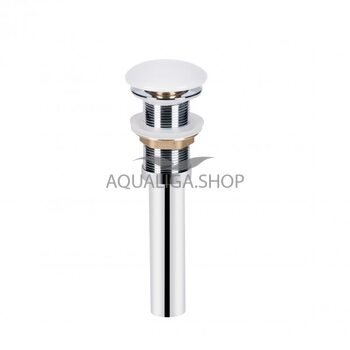 Донный клапан для раковины Qtap PU02 WHITE QT066PU02W