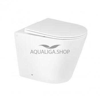 Унитаз напольный Qtap Swan безободковый с сиденьем Soft-close QT16223178W