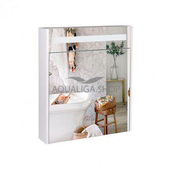 Зеркальный шкаф Qtap Robin 600х730х145 White с LED-подсветкой QT1377ZP6001W