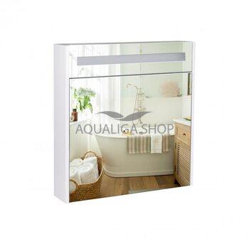 Зеркальный шкаф Qtap Robin 700х730х145 White с LED-подсветкой QT1377ZP7001W