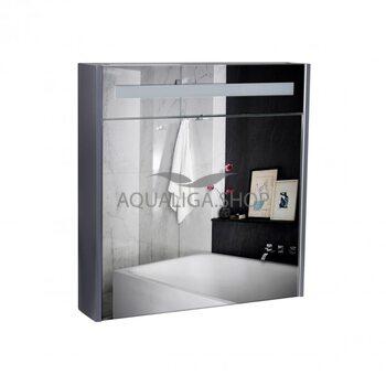 Зеркальный шкаф Qtap Robin 700х730х145 Graphite с LED-подсветкой QT1377ZP7002G
