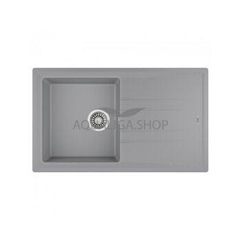Кухонная мойка 860x510 Teka STONE 50 B-TG 1B 1D серый металлик 115330014