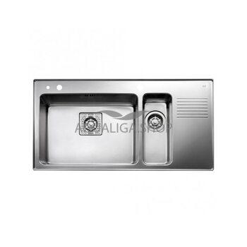 Кухонная мойка 970x510 Teka FRAME 1 1/2B 1/2D RHD  нержавеющая сталь 40180531