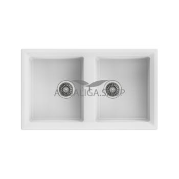 Кухонная мойка 860x510 Teka STONE 90 B-TG 2B серый металлик 115260000