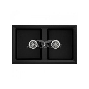 Кухонная мойка 860x510 Teka STONE 90 B-TG 2B черный 115260003