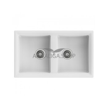 Кухонная мойка 860x510 Teka STONE 90 B-TG 2B белый 115260005